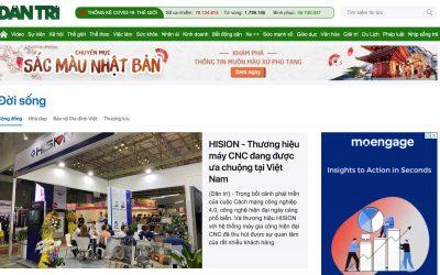 [Dan Tri Newspaper] HISION - A popular brand of CNC machines in Vietnam.